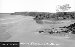 Little Haven, Settlands Beach c.1960