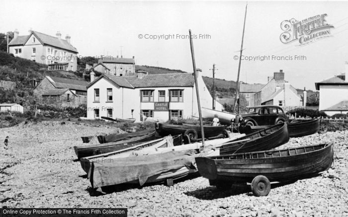 Photo of Little Haven, The Beach And Castle Hotel c.1955