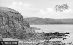 Little Haven, The Cliffs c.1955