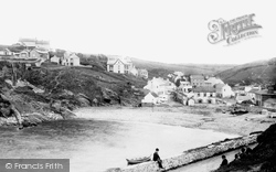 Little Haven, Village And Castle Hotel 1898
