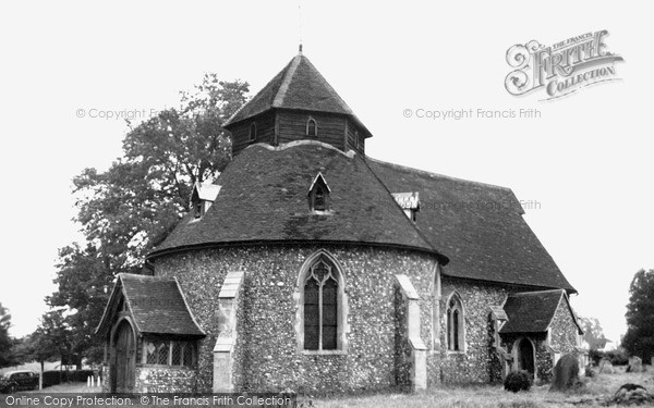 Little Maplestead, St John the Baptist Church c1955.  (Neg. L157002)  © Copyright The Francis Frith Collection 2005. http://www.francisfrith.com
