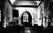 Little Marlow, the Church of St John the Baptist, interior 1890