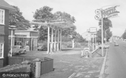 Little Sutton, Chester Road, Filling Station 1966
