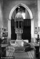 Little Walsingham, Parish Church Of St Mary, The Font 1922