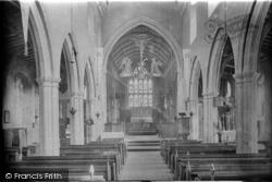 Little Walsingham, St Mary's Church, Interior 1929
