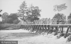 Day's Lock Weir c.1955, Little Wittenham