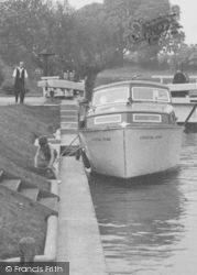 River Boat In Day's Lock c.1955, Little Wittenham