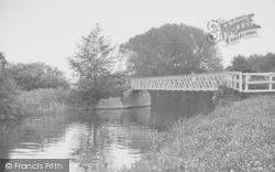River Thame Entering The Thames c.1955, Little Wittenham