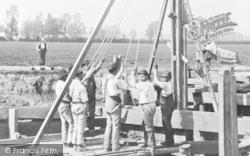 The Team Rebuilding Day's Lock Weir c.1870, Little Wittenham
