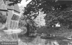 Littlebourne, The River By Hovis Mill c.1960