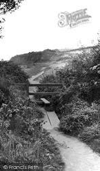 Littleham, The Cliff Path c.1955