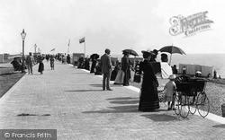 Littlehampton, Parade And Beach 1895
