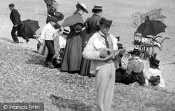 Littlehampton, The Mandolin Player 1898
