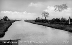 The River From Sandhills Bridge c.1955, Littleport