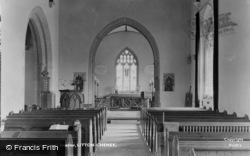 Litton Cheney, Parish Church Interior c.1955