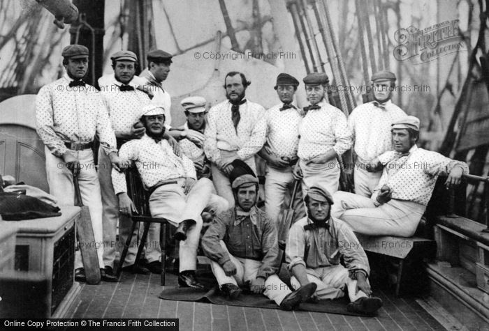 Photo of Liverpool, England's Champion Cricket Team, About To Sail To America 1859