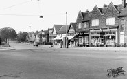 Liverpool, Garston, Holmefield Road from Booker Avenue c1955