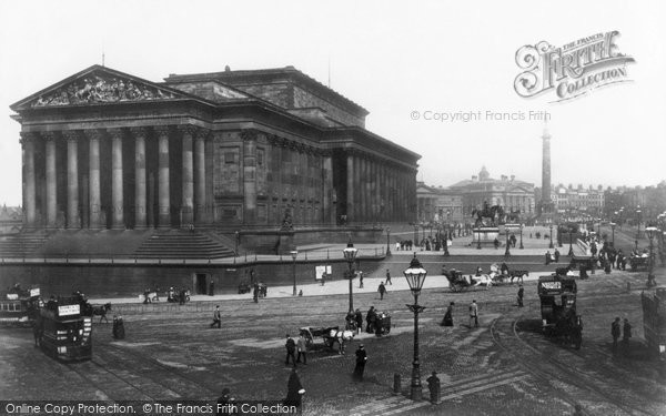 Photo of Liverpool, Lime Street And St George's Hall 1895