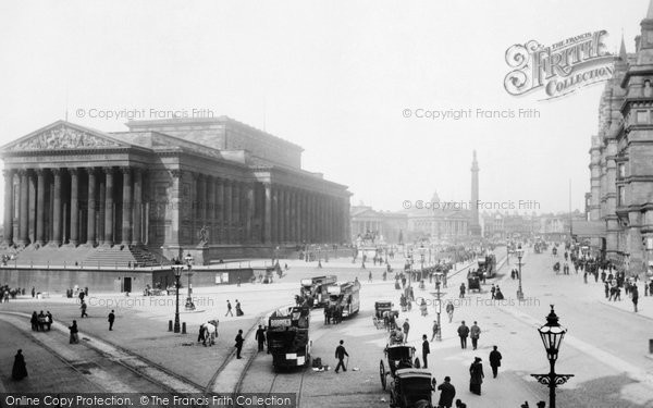 Photo of Liverpool, Lime Street And St George's Hall And Plateau 1890