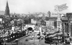 Liverpool, Mersey (Queensway) Tunnel, From Wellington Column c.1960