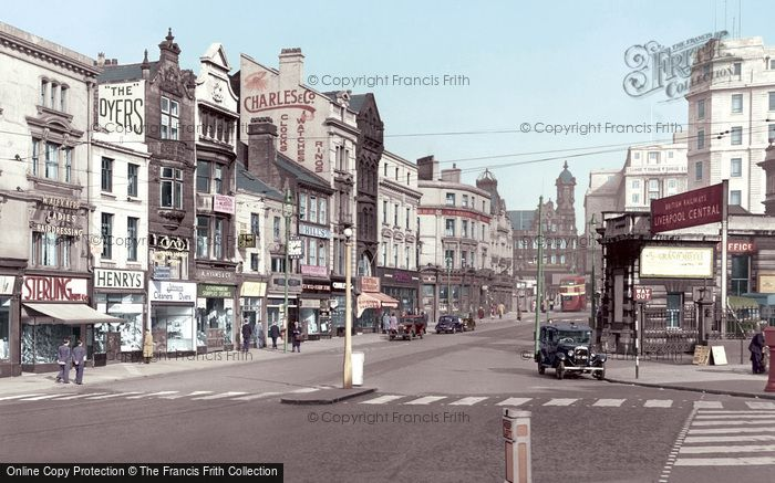 Photo of Liverpool, Ranelagh Street c.1950
