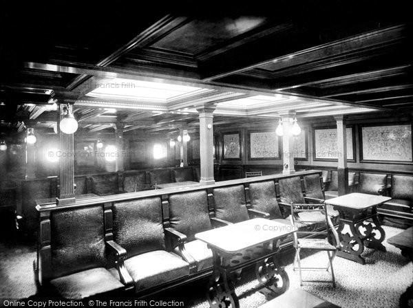Photo of Liverpool, Ss City Of Paris, Smoking Room 1890