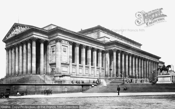 Photo of Liverpool, St George's Hall c1881