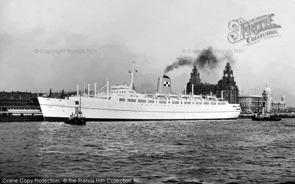 Photo of Liverpool, The 'empress Of England' Leaving Liverpool c.1958