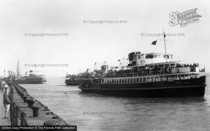 Photo of Liverpool, The Ferry Boats c.1965