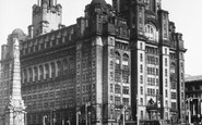 Liverpool, The Royal Liver Building c.1955