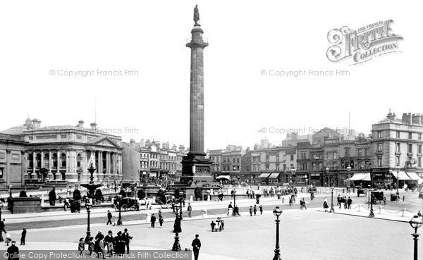 Photo of Liverpool, The Waterloo Column And Commutation Row 1895