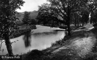 Llan Ffestiniog, River Scene c1880