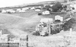 Llanaber, Hendre Coed Caravan Site c.1955