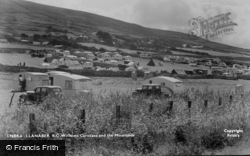 Llanaber, R.O.Williams Caravans And The Mountains c.1950