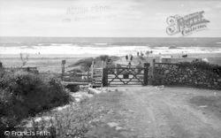 Llanaber, Road To The Beach, Tyddyn-Y-Nant Camping Site c.1955