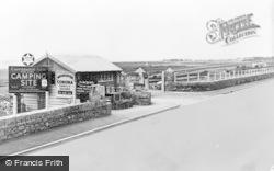 Llanaber, The Entrance, Caerddaniel Holiday Camping Site c.1955