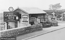The Entrance, Caerddaniel Holiday Camping Site c.1955, Llanaber