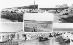 Tyddyn-Y-Nant Camping Site Composite c.1960, Llanaber