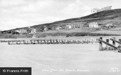 Llanaber, View From The Beach c.1955