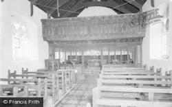 Llananno, St Anno's Church, Interior 1959