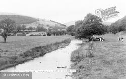 Llanarmon Dyffryn Ceiriog, The River c.1950