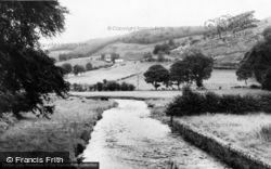 Llanarmon Dyffryn Ceiriog, The River c.1955