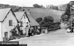 Llanarmon Dyffryn Ceiriog, The West Arms Hotel And Bridge c.1960