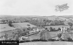 Llanarth, General View From Church Tower c.1955