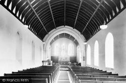 Llanarth, St David's Church Interior c.1955