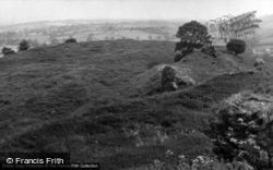 Llanarthney, A View At Dryslwyn Castle 1953, Llanarthne
