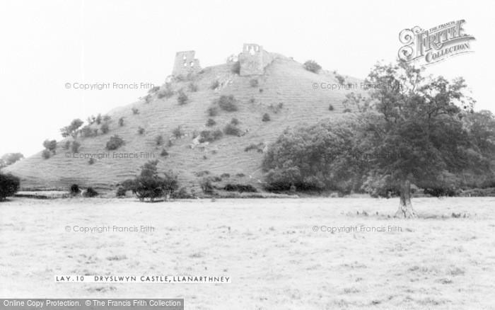Photo of Llanarthney, Dryslwyn Castle c.1955