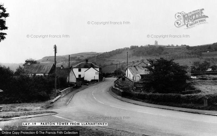 Photo of Llanarthney, Paxton's Tower c.1955
