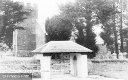 Llanarthney, St David's Church And Lychgate c.1955