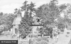 Llanbadarn Fynydd, St Padarn's Church c.1955